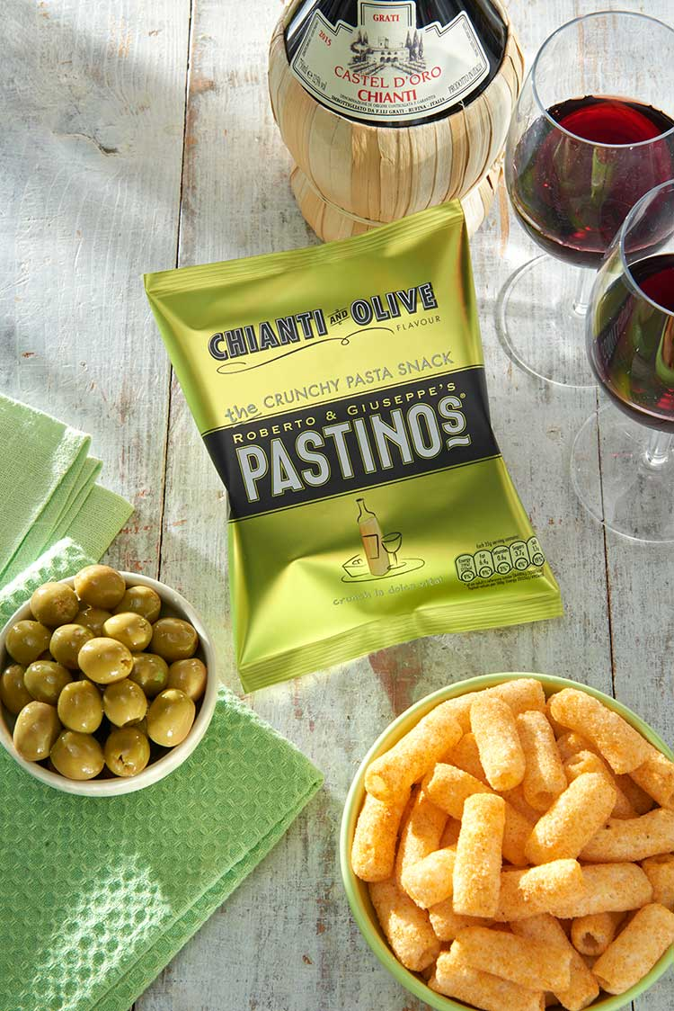 Pastinos Chianti and Olive Snacks
